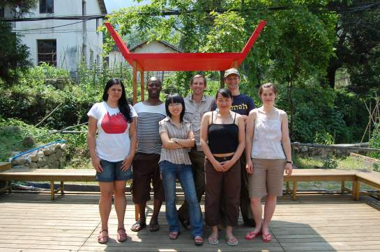 From left to right: Maria Benjamin, Harold Offeh, Jia Yin Tan, Alistair Hudson, kai Oi Jay Yung, Bryan Davies, Laura Davies